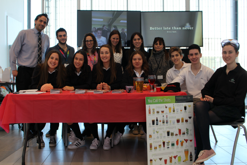 On March 29, the students from Bialik High School who participated in the program showcased their year's work in the Larry and Cookie Rossy Promenade in front of the Montreal Children's Hospital. They presented a slide show with photos of all their activities and launched a PSA they created on safe driving.