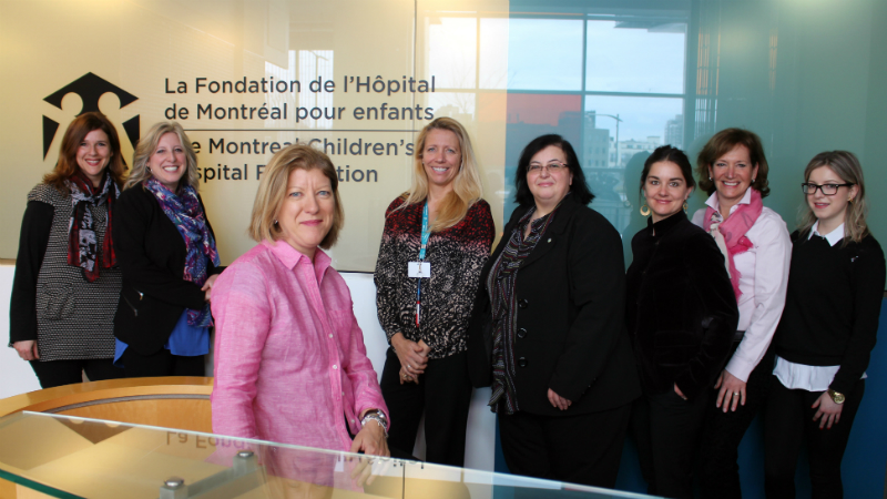 Come say hello to the seven members of Montreal Children's Hospital Foundation who have moved into the Children's: (l. to r.), Josée Della Rocca, Director, Partnerships, Valerie Frost, Director, Stewardship & Donor Relations, Suzanne Korf, Director, Development, Josie Pizzuco, Tribute Program Officer, Rayna Goldman, Individual Giving Officer, Josée Garneau, Leadership Circle Coordinator. Angelika Maselli, Tribute Program Coordinator.