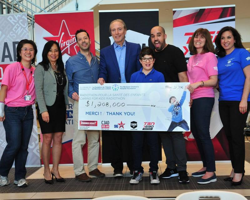 The Caring for Kids Radiothon, aired on CJAD 800, 96 Virgin