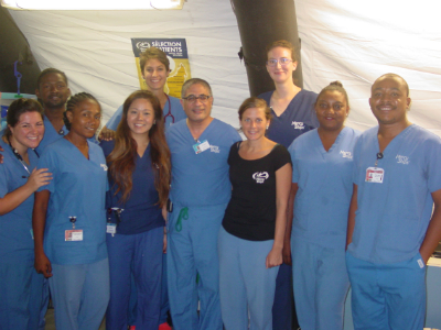 Dr. Emil with the Africa Mercy Screening Team