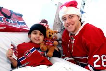 Mario smiles with Nathan Beaulieu.