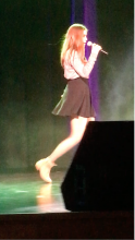 Caterina performing on stage