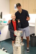 Jean-Gilles with Marc-André Fleury and Lord Stanley's Cup.