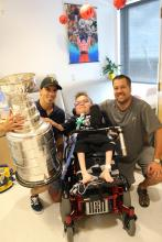 Loïc with Marc-André Fleury and Lord Stanley's Cup.